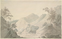 Langur Garh in the Srinagar mountains, Garhwal (U.P.). 3 May 1789